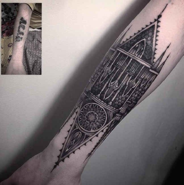 Pin by Dai\'Zjah Anatole on Tattoo ideas | Cover up tattoos, Forearm ...