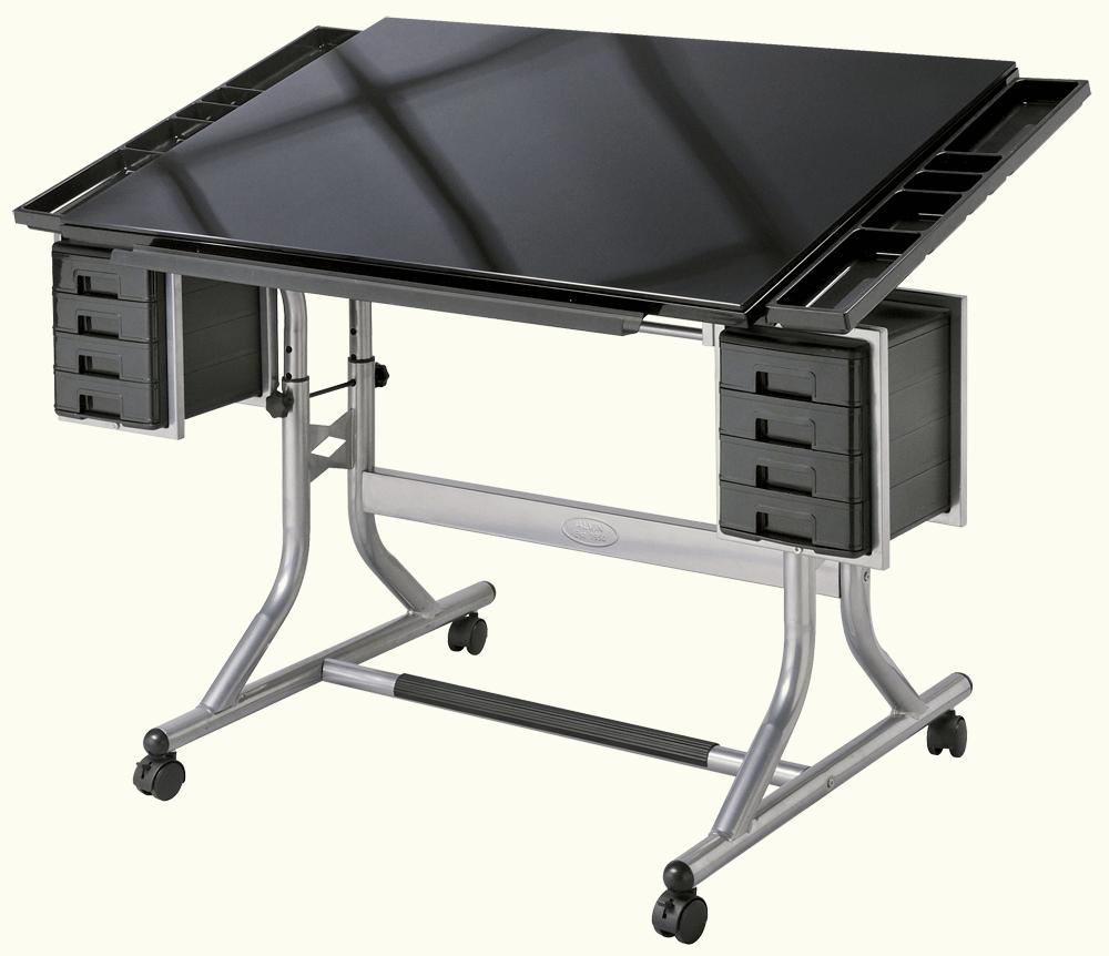 Alvin Craftsmaster Ii Glass Top Deluxe Art Drawing Table Rex Art Supplies Drawing Table Glass Top Table Art Table