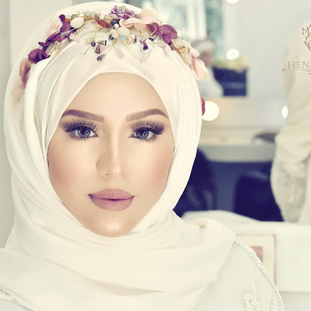 Makeup Wedding Hijab Bridal Hijab Wedding Hijab Styles Wedding Hijab