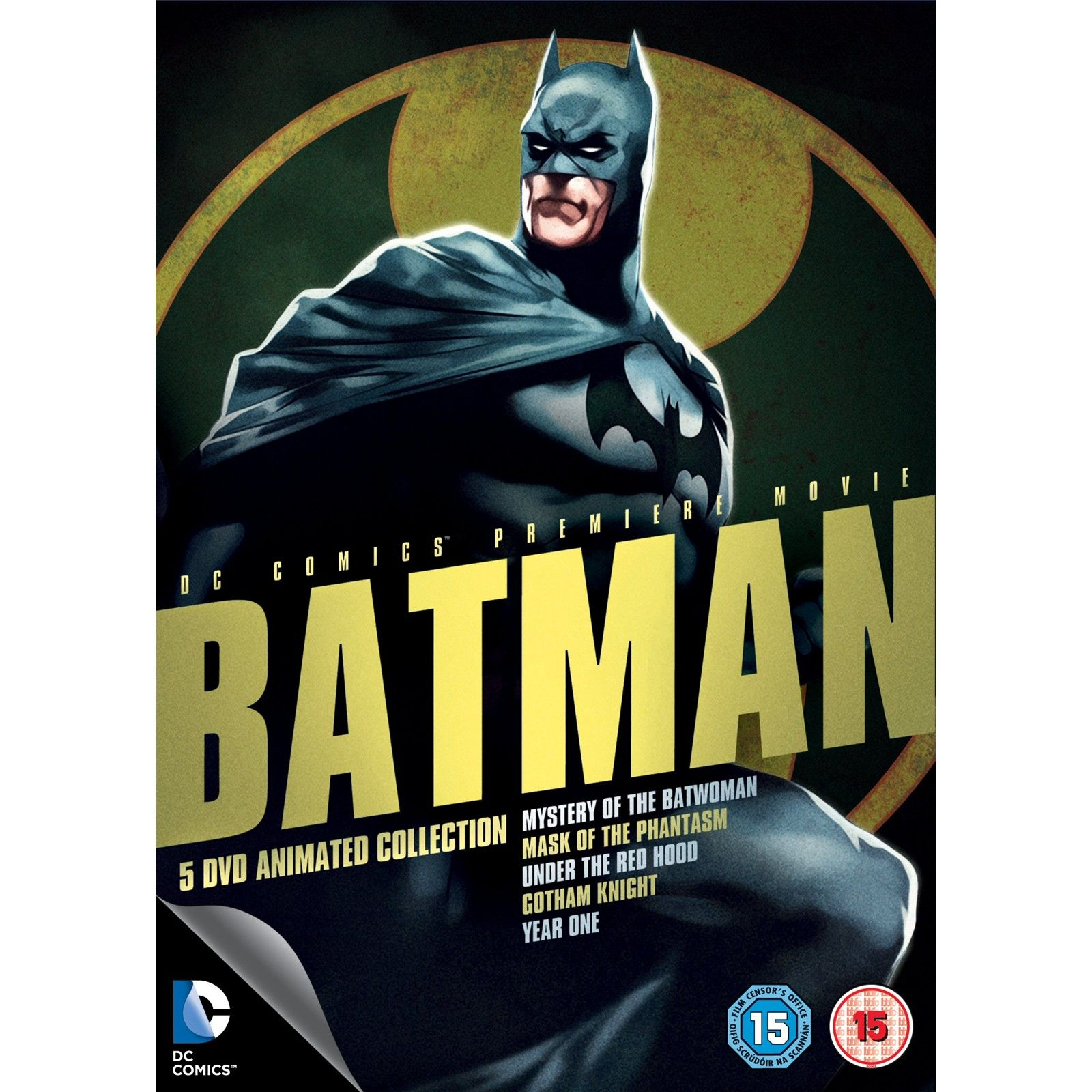 Batman 5 DVD Animated Collection 5 animated films for