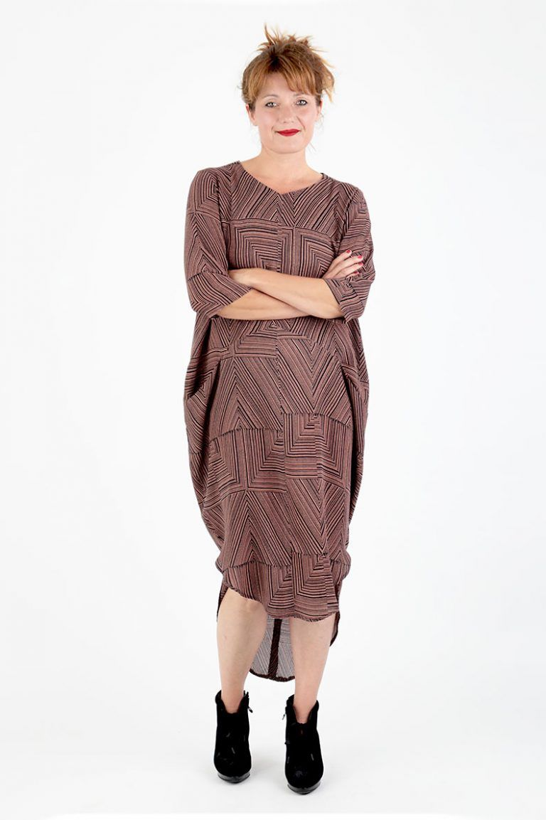 8514733c53e7a Sewing Pattern Cocoon Dress Trine - made with a beautiful viscose crepe by  Lotte Martens