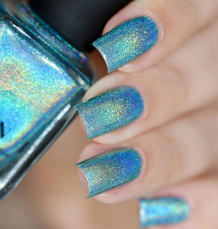 Aria is a gorgeously understated sky-blue Ultra Holo nail polish ...