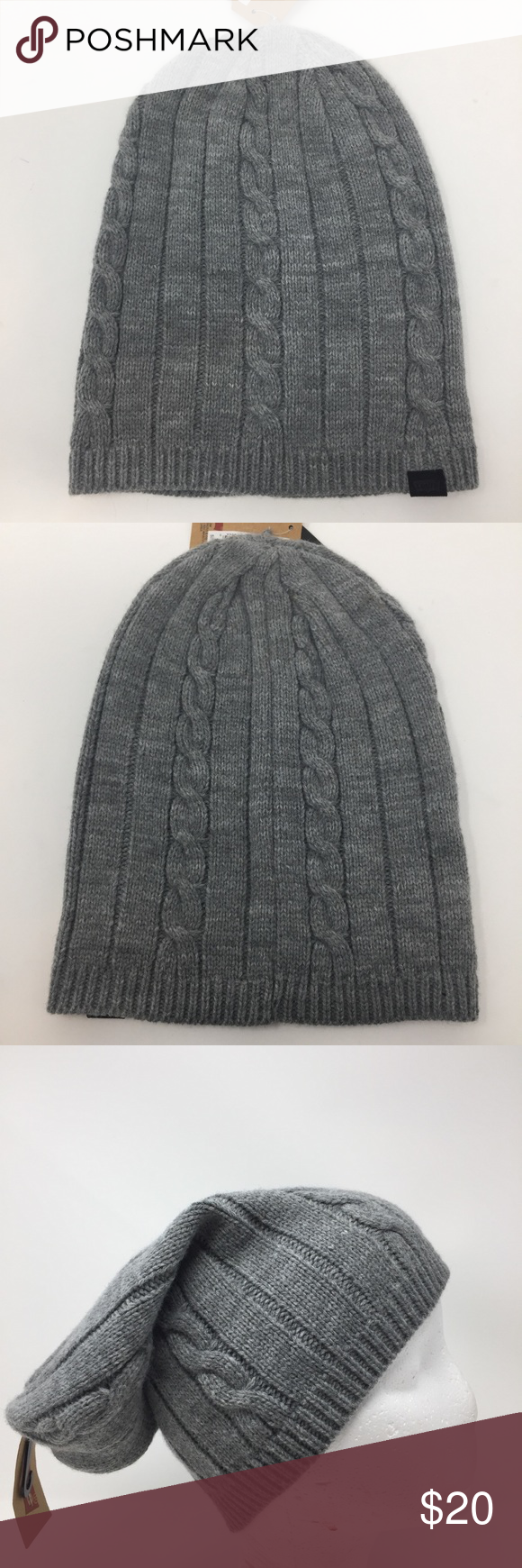b32e585b1cb Levis Grey Knit Slouchy Beanie NEW Onesize Levis Grey Knit Slouchy Beanie  NEW with tag. Onesize Levi s Accessories Hats