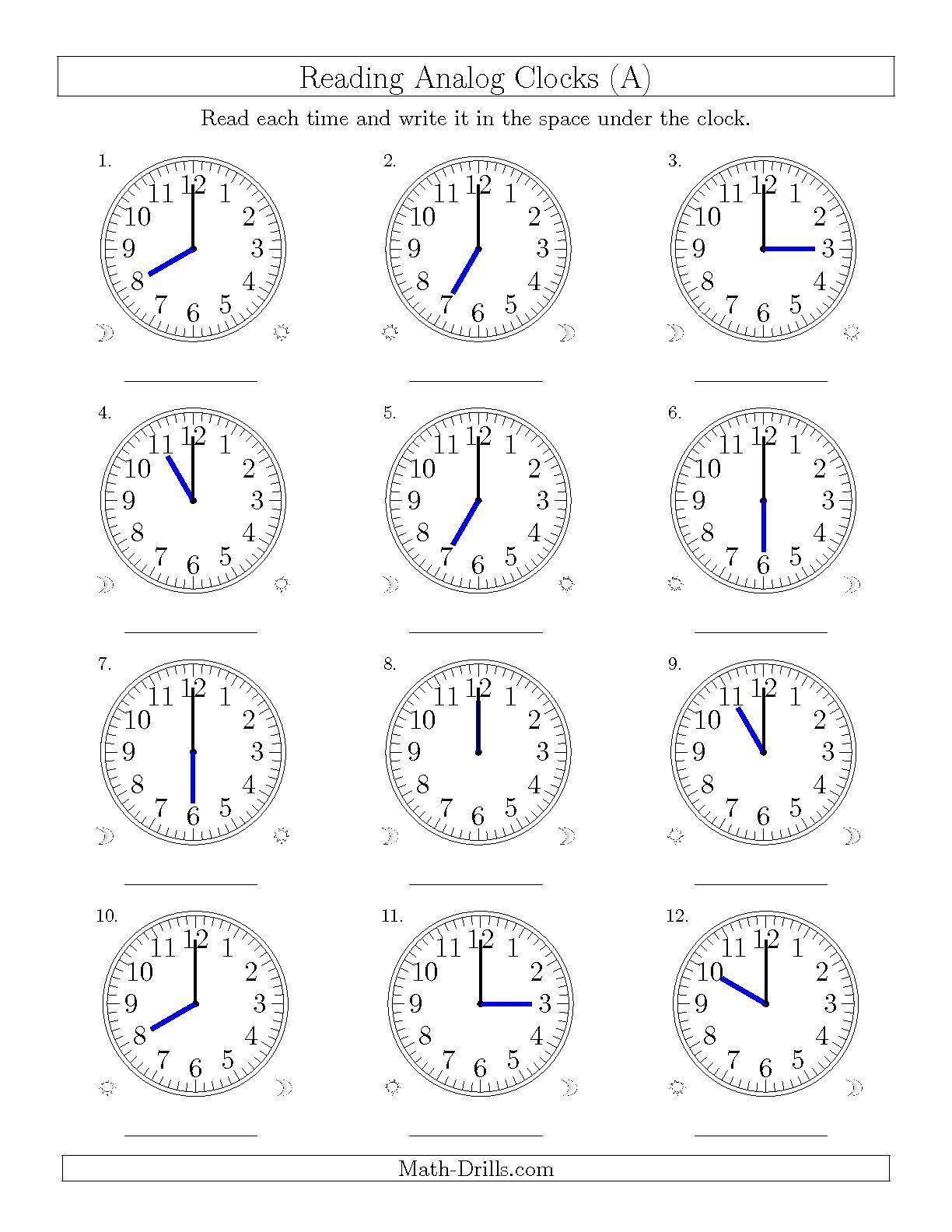 Grade 2 Telling Time Worksheets - free & printable | K5 Learning