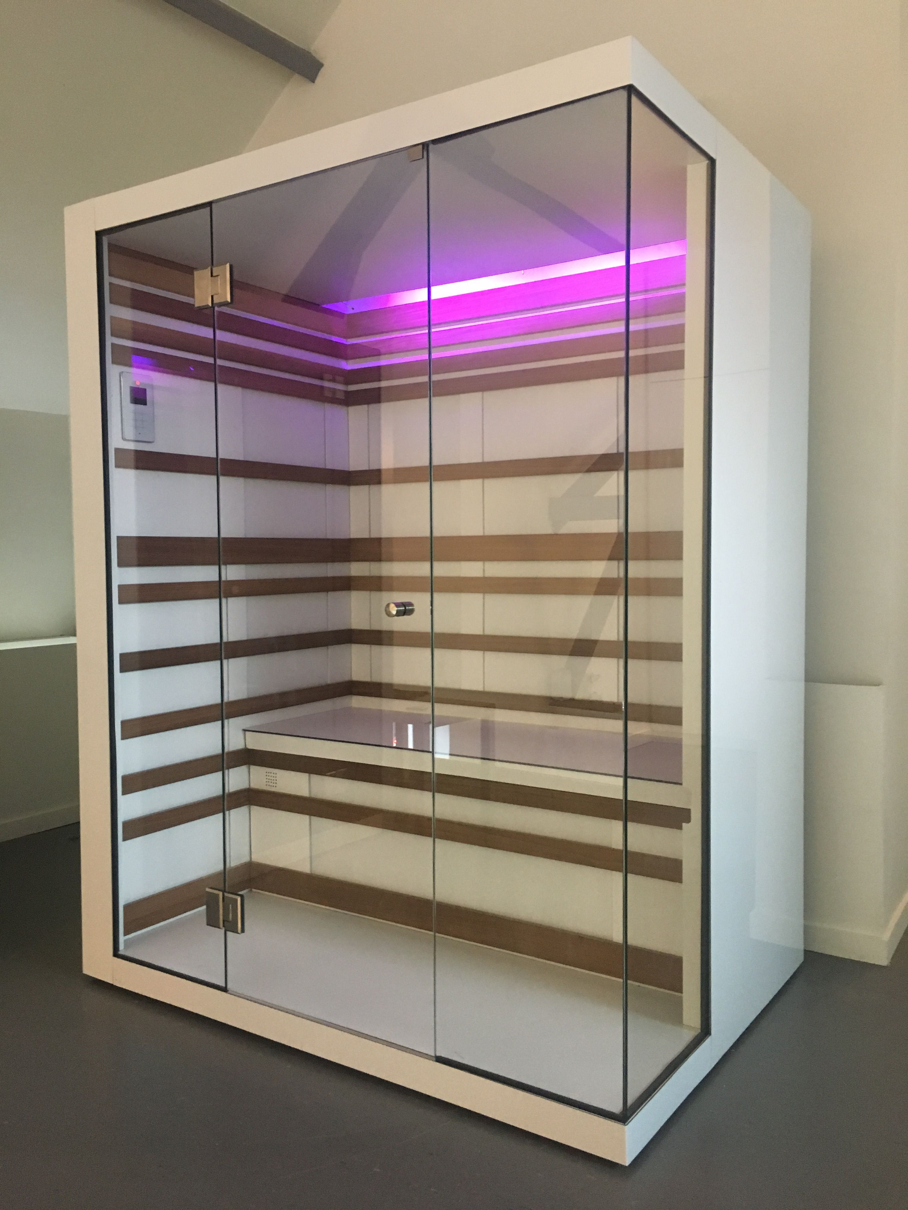 Kombisauna White Infrared Sauna With Glass Corner Design Infrared Sauna In