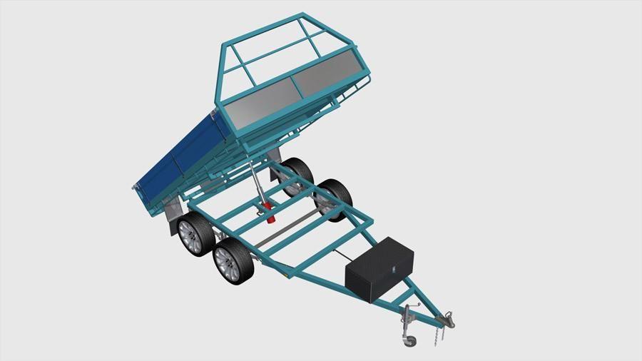 10x7 hydraulic tipping trailer plans in 2020 trailer