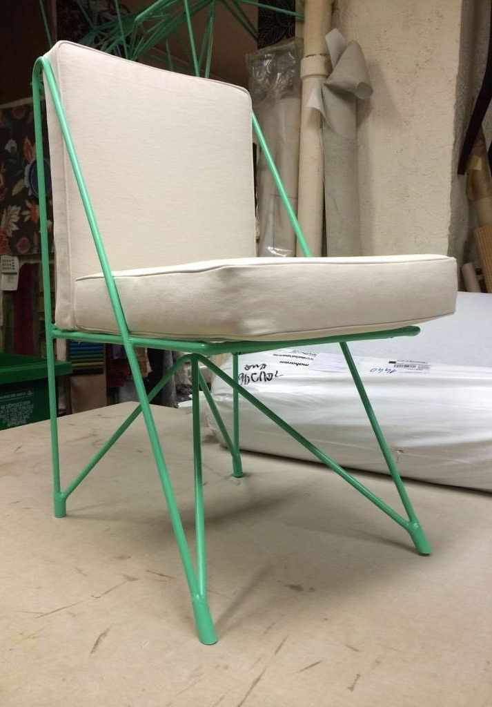 Raoul Guys Enameled Metal Chair 1950s Modern Style Furniture