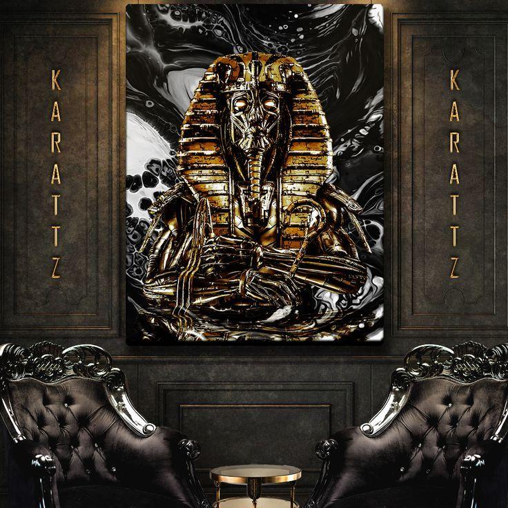 Golden Pharaoh canvas premium print thumbnail