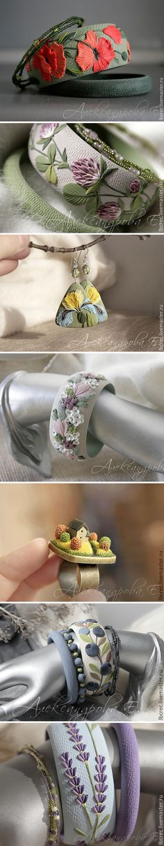 Fantastic polymer clay jewelry by Russian artist Eugenia Alexandrova
