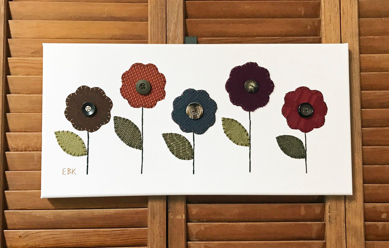 Garden wall art flowers  Garden Flowers  Fabric Wall Art  Erin Brie Art  Pinterest