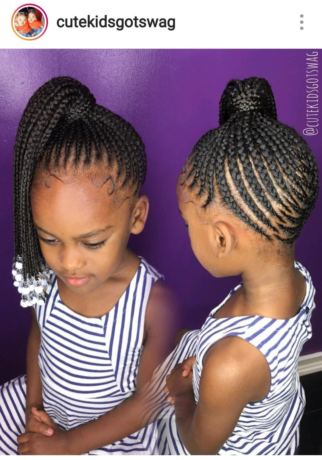 Little people with beads! in 10  Kids braided hairstyles