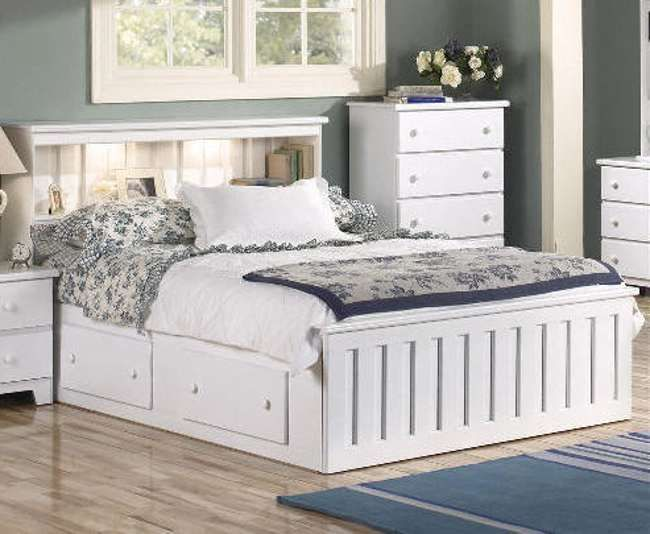 White Queen Bed With Storage Hannah Room Ideas