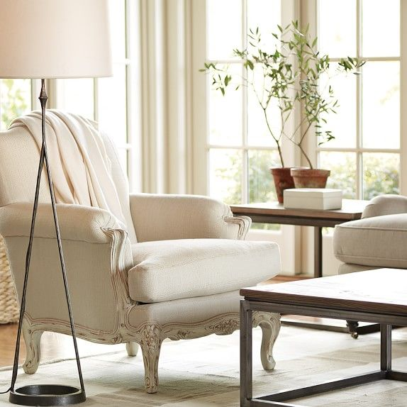 white french chair  williamssonoma with images