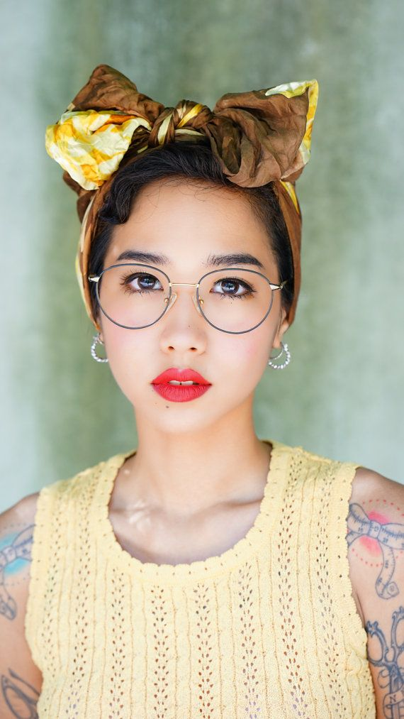 Vintage Eyeglass 1990\'s Wire rim Gold Toned With Black Enamel Made ...