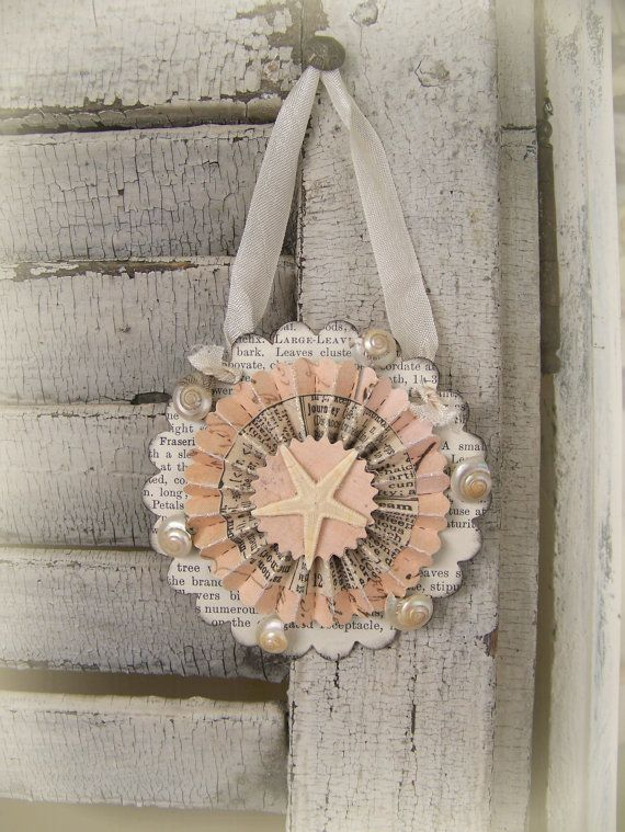 sea shell ornament with rosette