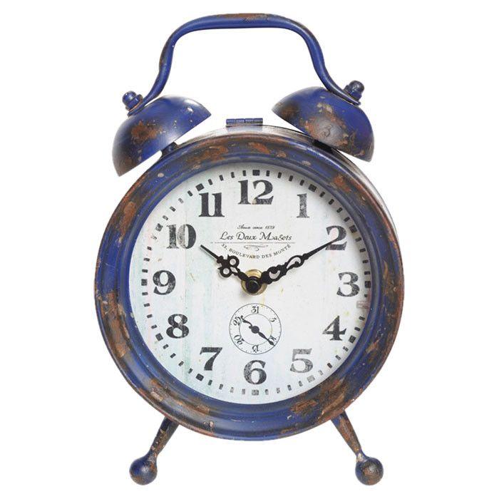 Blue Table Clock Alarm Clock Clock Table Clock