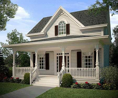 Plan 31059d Attractive Cozy Cottage Cottage Style House Plans Cottage House Plans American Houses