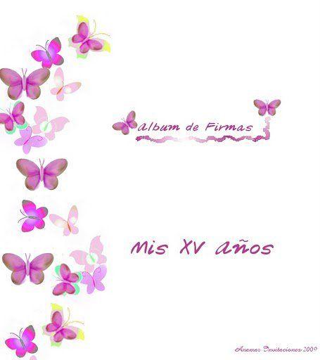 Imagen mariposas para album de firmas imagenes para for Decoraciones para hojas