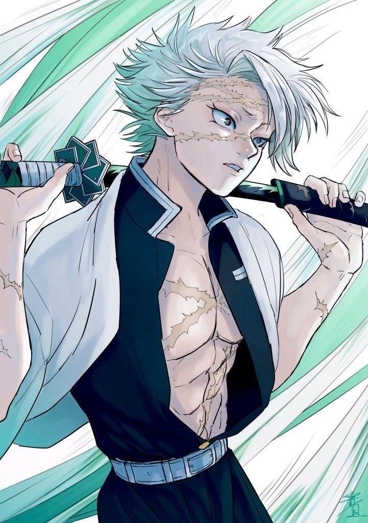 The Wind Hashira Sanemi Shinazugawa Anime Demon Anime Fanart Anime