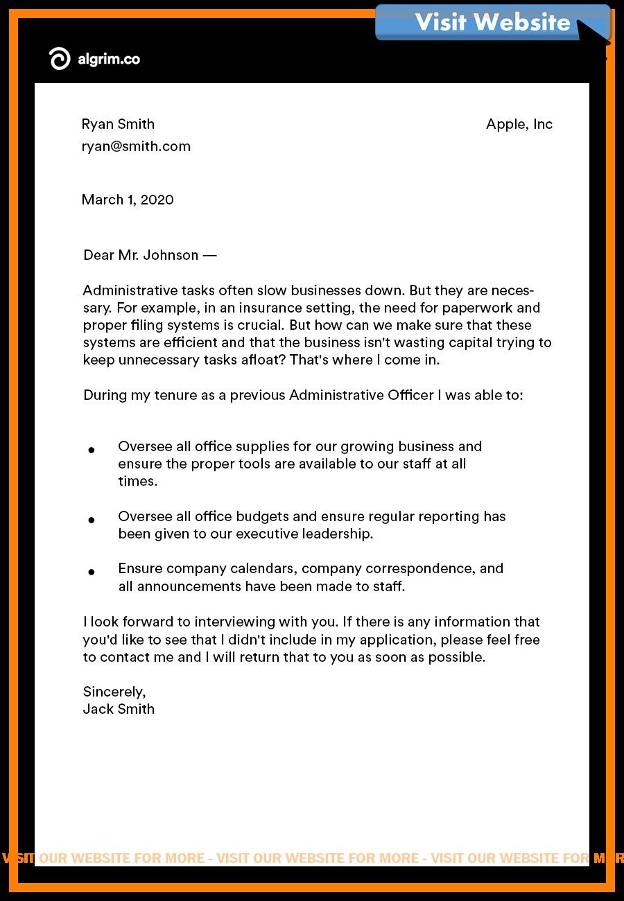 Insurance Underwriter Cover Letter Sample - All ...