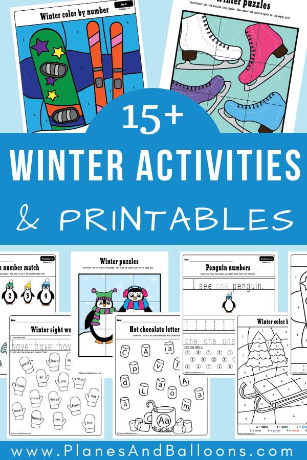 Free winter activities for preschool and kindergarten ...