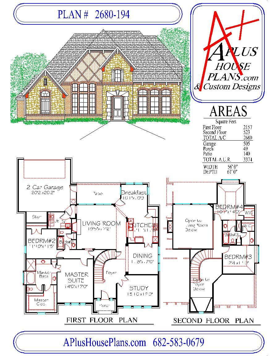 house plan 2680 194 country french front elevation 2680 sqft