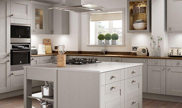 Best Milton Grey Kitchen Gray Kitchens With White Cabinets 400 x 300