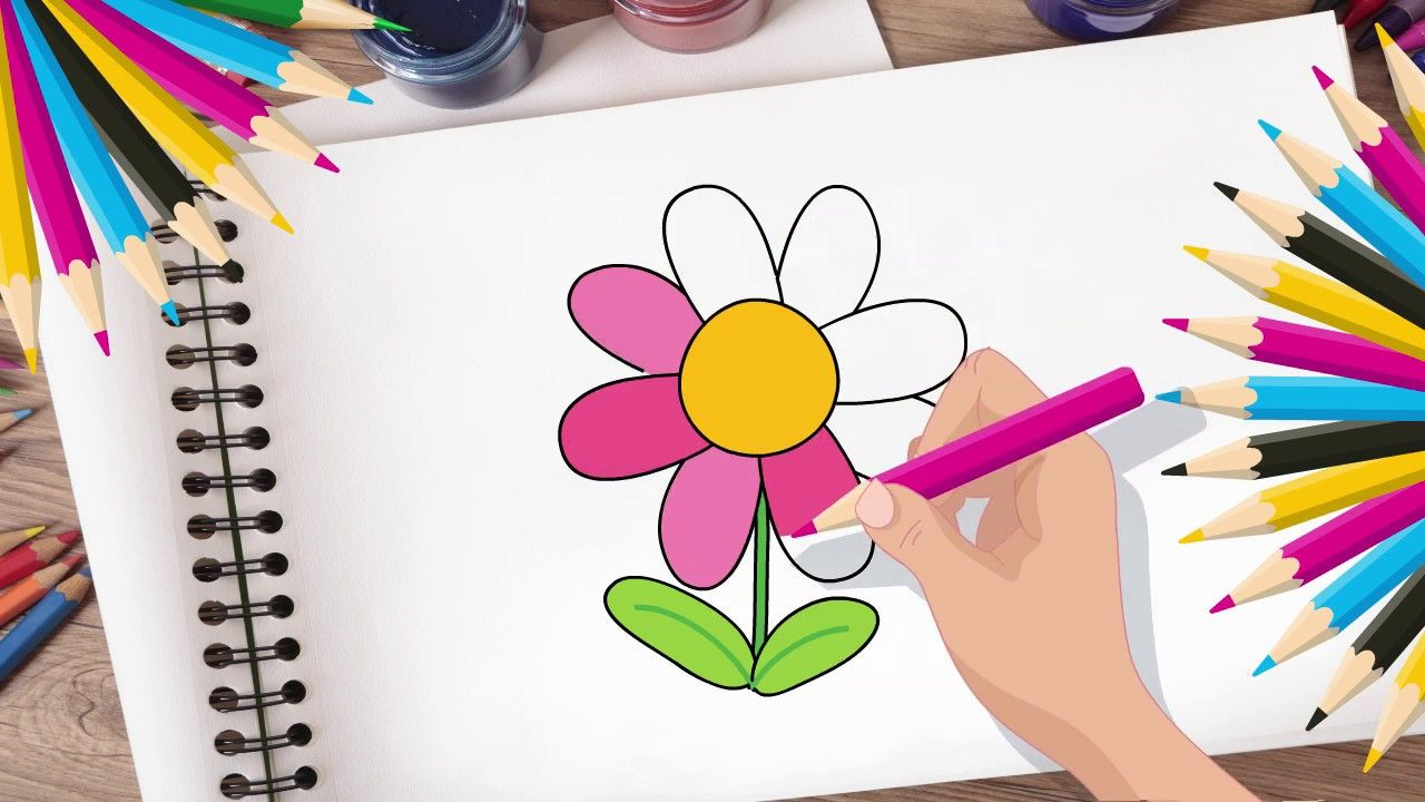 Drawing Bee For Toddlers And Kids With Pixel Cartoon Drawings Cartoon Bee