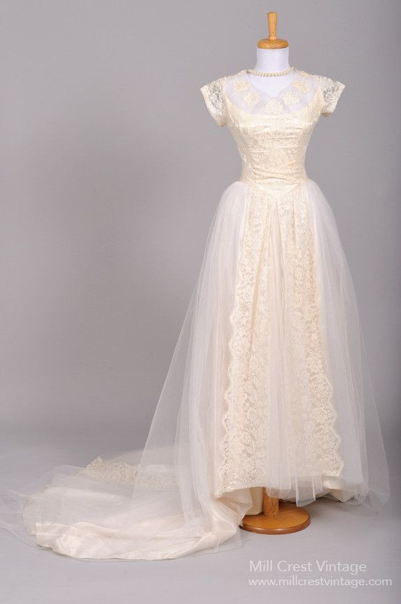 af67c06e302 Fabulous Vintage 1950s Wedding and Bridesmaid Dresses from Mill Crest  Vintage