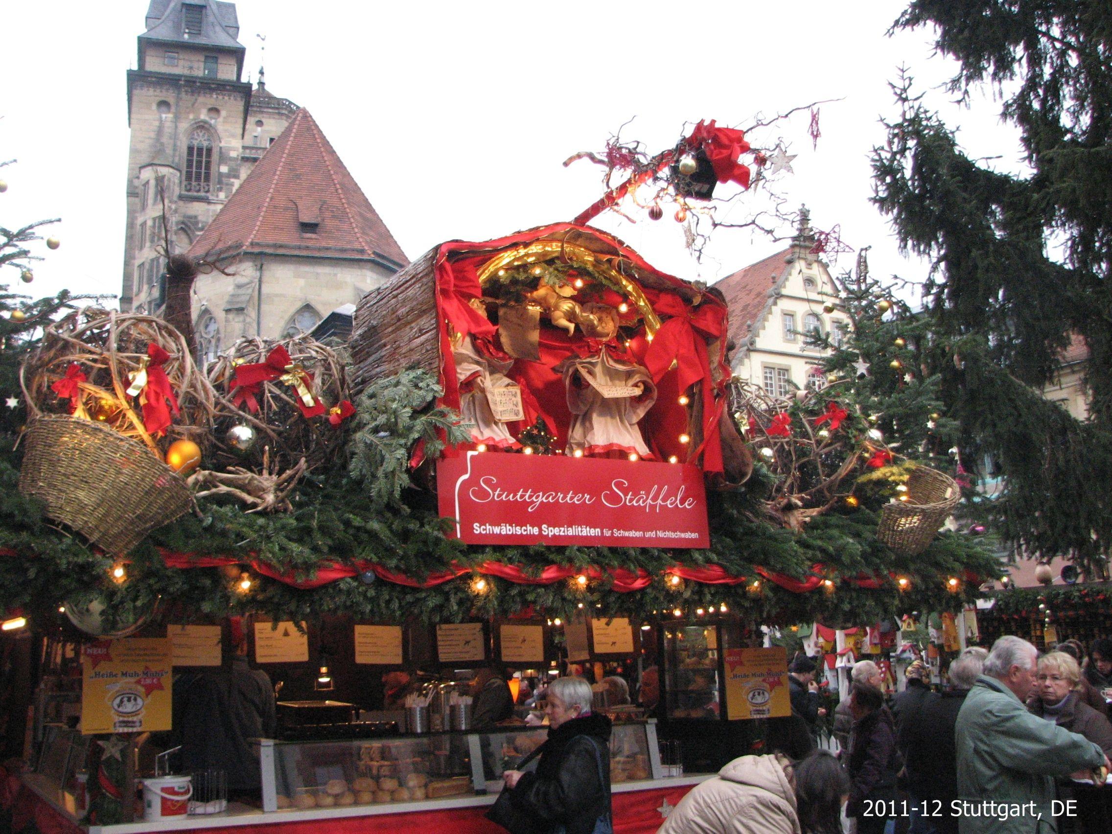 Christmas In Stuttgart Germany.Christmas Market Stall Roof Competition Stuttgart Germany