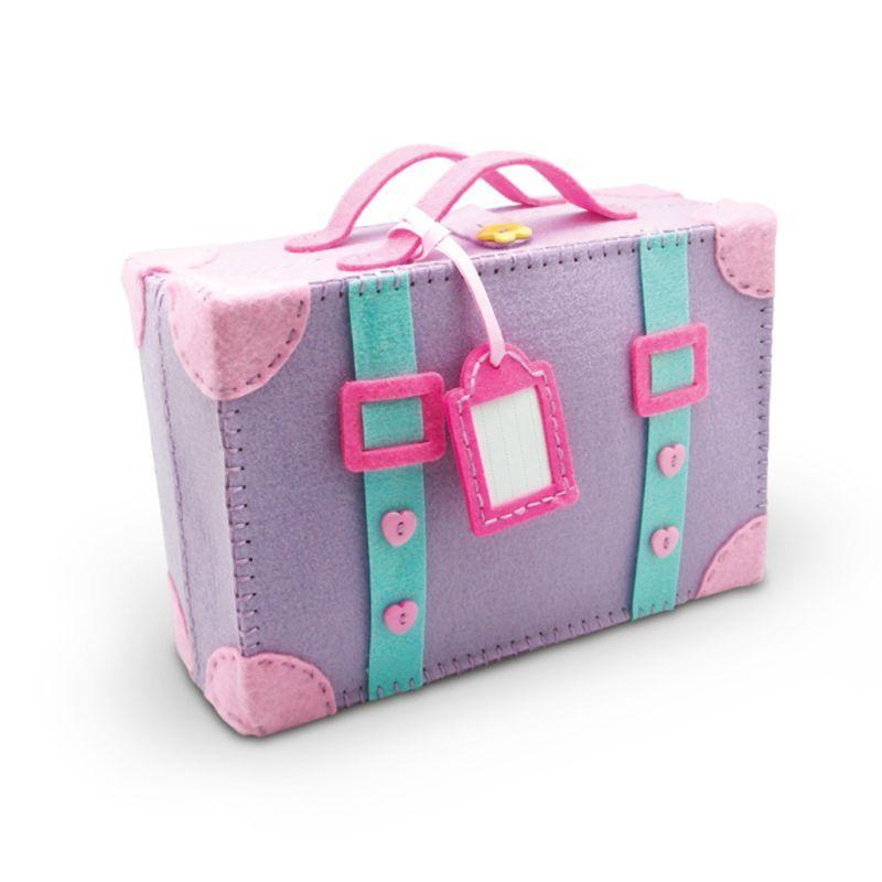 Hobbycraft Make Your Own Felt Suitcase Kit Pink