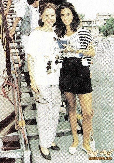 فاتن وحفيدتها Model Fashion Sequin Skirt