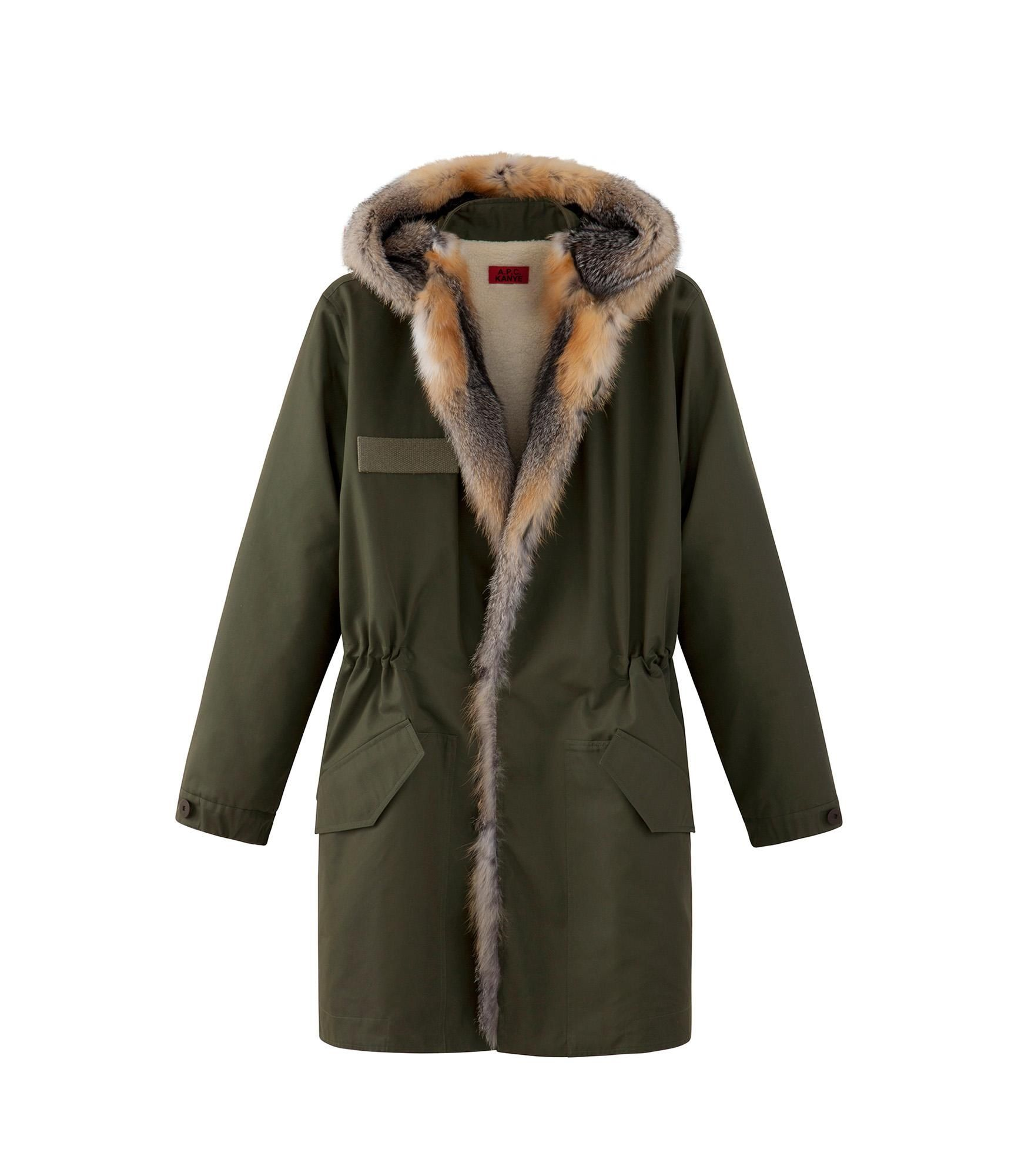 Parka with fur Military khaki L - A.P.C. MEN | spending everything ...