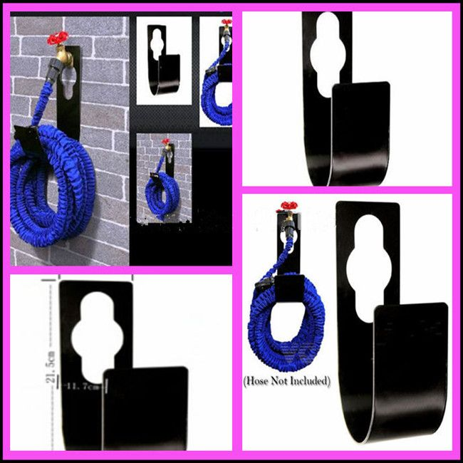 Wall Mounted 25ft 50ft 75 100ft Watering Hosepipe Hook Organizer Metal Garden  Hose Pipe Reel Holder