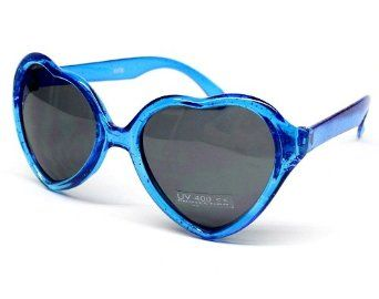 Kids Childrens Girls Heart Love Party Sunglasses Kd204 Evie (clear blue, uv400) Style Vault. $4.95