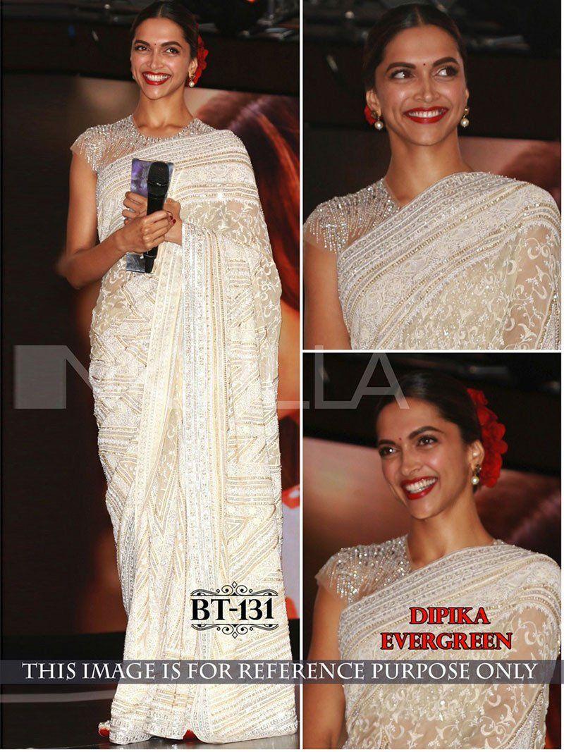 Stylish And Fashionable Bollywood Replica Deepika Padukone Saree Bollywood Designer Sarees Deepika Padukone Saree Saree Designs