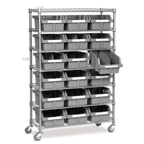 Storage Shelves With Bins Steel Wire Shelving
