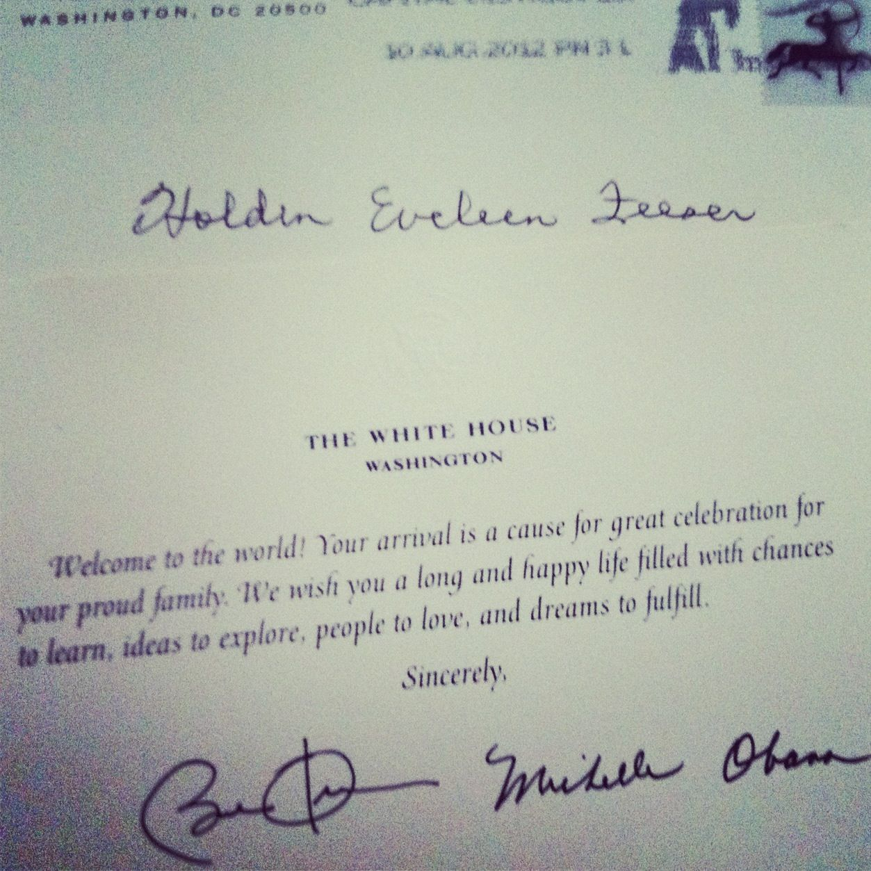 If you send a birth announcement to the white house youll get a if you send a birth announcement to the white house youll get a m4hsunfo Choice Image