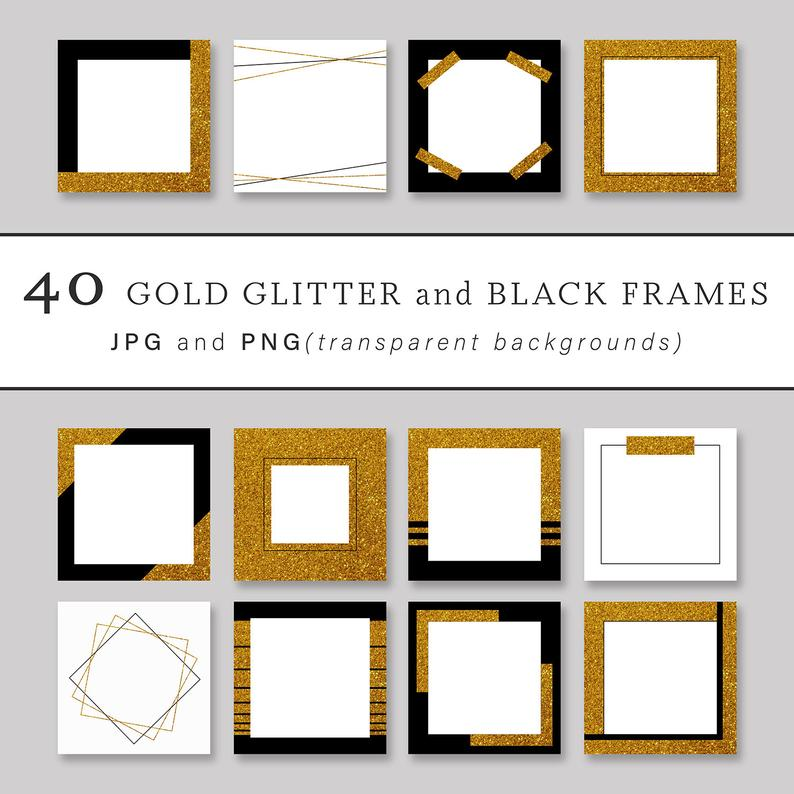 Instagram Post Template Frame Png Gold Geometric Frame Png Etsy Frame Instagram Frame Instagram Post Template
