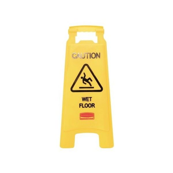 Rubbermaid Commercial Caution Wet Floor Floor Sign, Plastic, 11 x 1 ...
