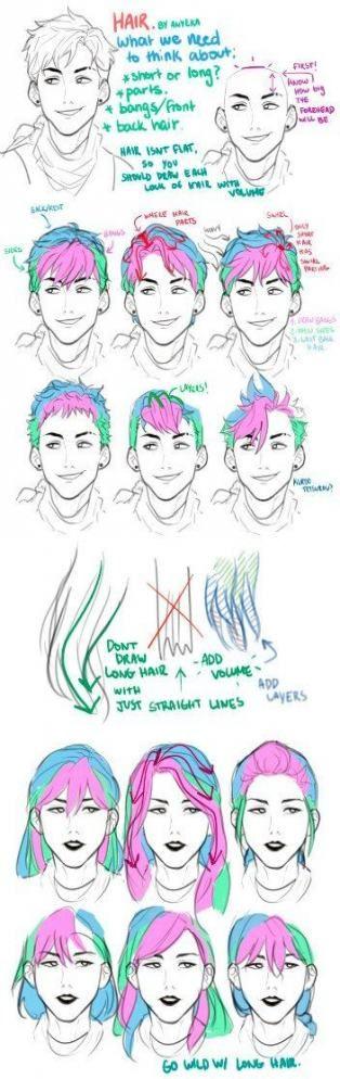 Best Hair Drawing Flowing 28 Ideas Hair Drawing Drawing Hair Tutorial Hair Sketch Cartoon Hair