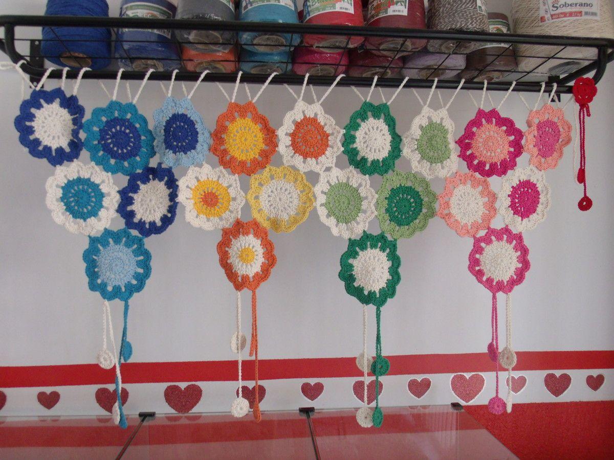 Cortina De Croch Para Cozinha 50th And Crochet