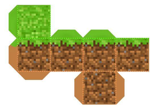 Molde Bloco Minecraft Cumpleanos Con Tema De Minecraft