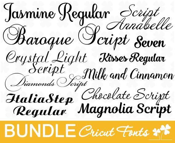 Download Wedding font bundl Cricut font bundle Cursive fonts for ...