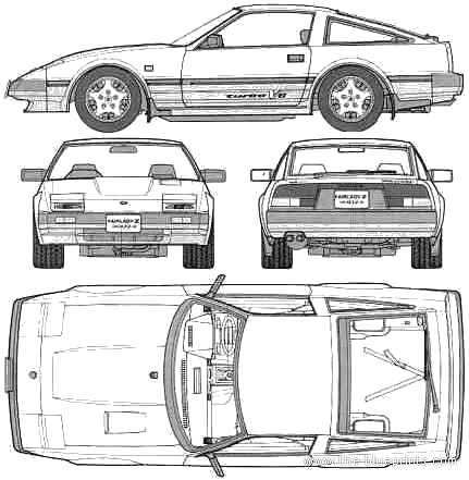 Nissan 300zx blueprint google search vehicle design art nissan 300zx blueprint google search malvernweather Image collections