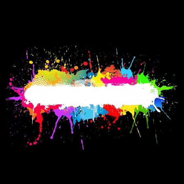 Colourful paint splats background Free Vector