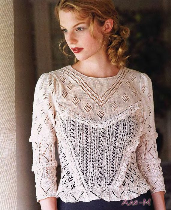 Knitting. Delicate blouse. Discussion on LiveInternet - Russian Service Online Diaries