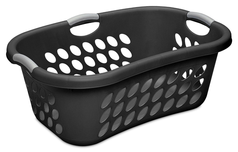 Amazon Com Sterilite 12109006 1 25 Bushel 44 Liter Ultra Hiphold Laundry Laundry Basket Black Laundry Basket