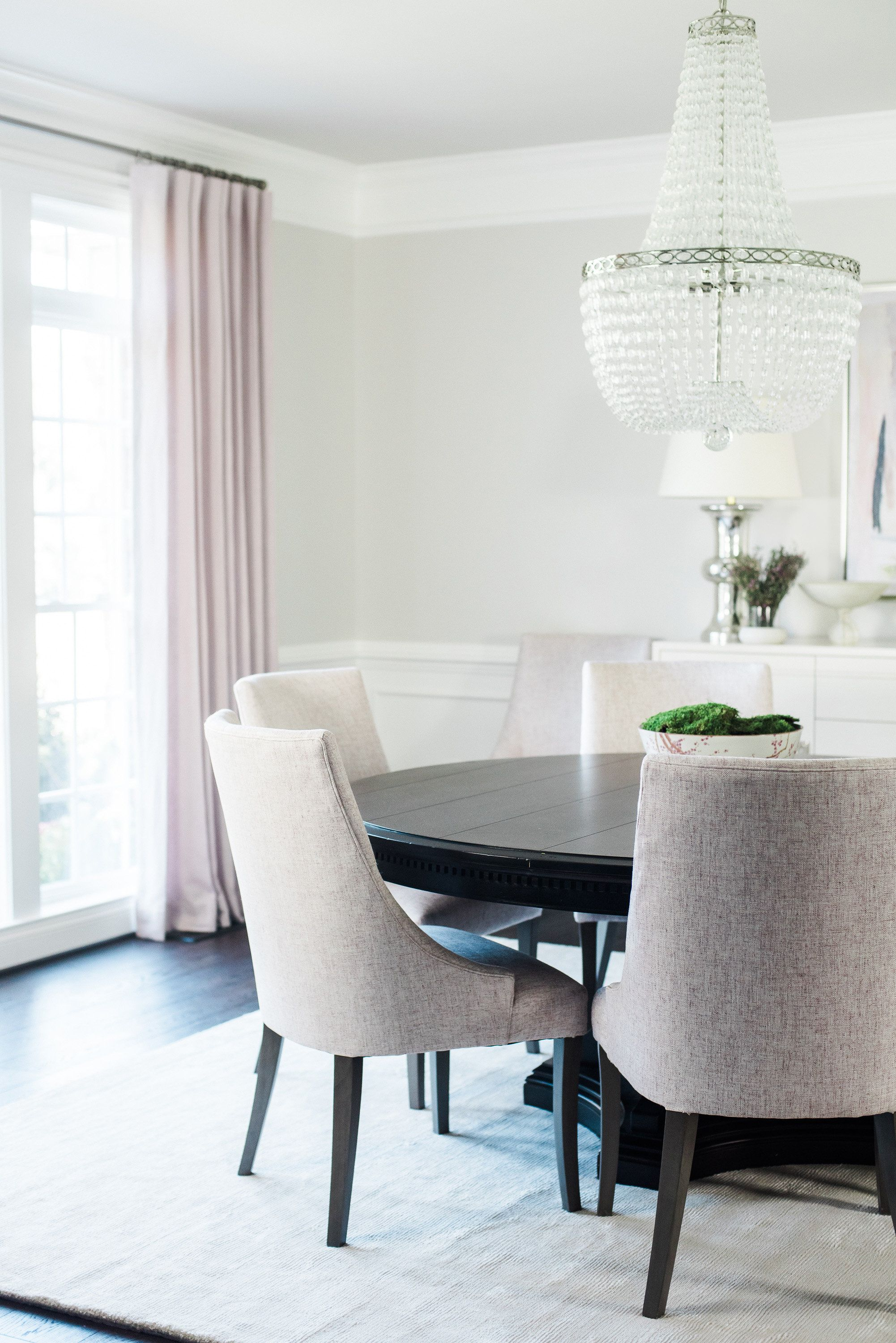 Mauve inspired dining room design by Stephanie Gamble Interiors ...