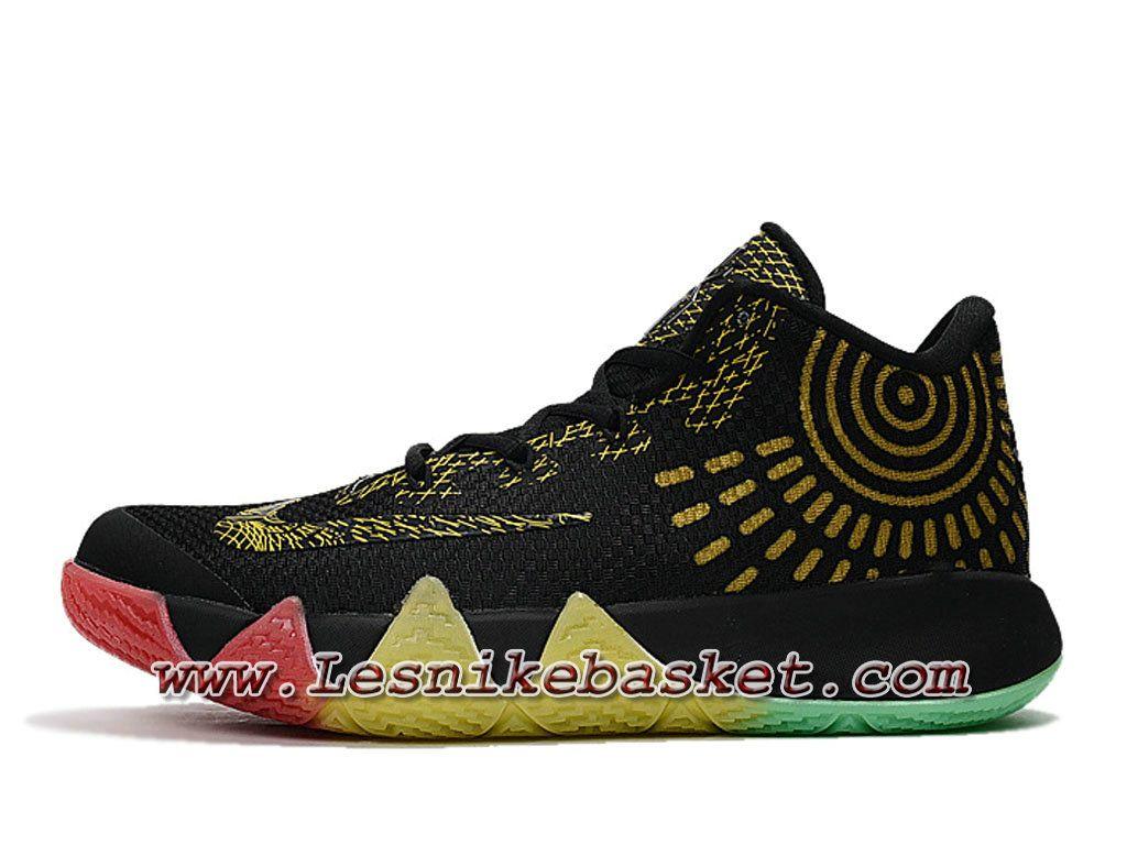 official photos d536c b8f84 Basket Nike Kyrie 4 BHM/Noires Or Chausport Officiel NIke ...